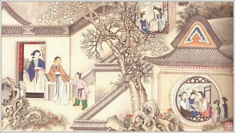 a dream of red mansions, chinese classic novel, sun wen, qing dynasty